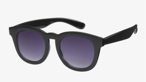 Large Retro Round Sunglasses (8838) - icu - Black